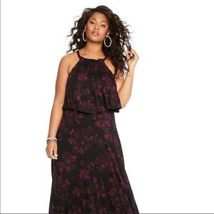 Torrid  NWOT maxi dress with flounce
